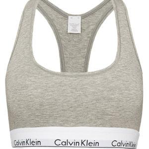 Calvin Klein - Bralette Cotton Stretch sivá - športová podprsenk