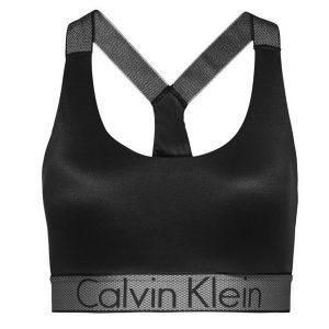 CALVIN KLEIN - Lightly lined čierna braletka - športová podprsenk